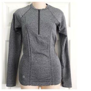 Athleta Gray 1/2 Zippered Pullover